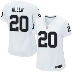 Nike Women's Game White Road Jersey Oakland Raiders Nate Allen 20