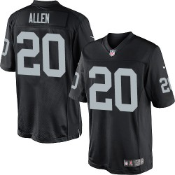 Nike Youth Elite Black Home Jersey Oakland Raiders Nate Allen 20