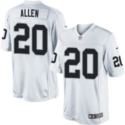 Nike Youth Elite White Road Jersey Oakland Raiders Nate Allen 20