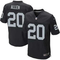 Nike Men's Elite Black Home Jersey Oakland Raiders Nate Allen 20