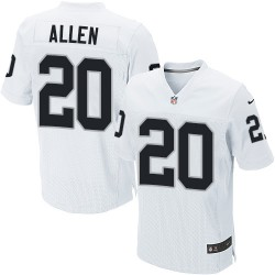 Nike Men's Elite White Road Jersey Oakland Raiders Nate Allen 20
