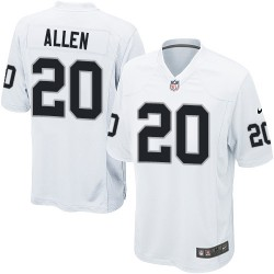Nike Men's Game White Road Jersey Oakland Raiders Nate Allen 20