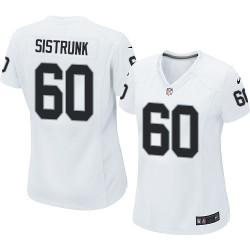 Nike Women's Limited White Road Jersey Oakland Raiders Otis Sistrunk 60