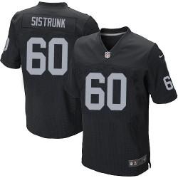 Nike Men's Elite Black Home Jersey Oakland Raiders Otis Sistrunk 60