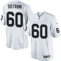 Nike Men's Limited White Road Jersey Oakland Raiders Otis Sistrunk 60