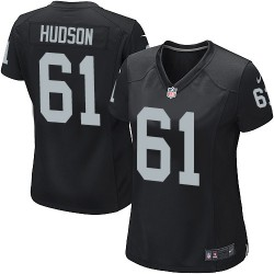 Nike Women's Game Black Home Jersey Oakland Raiders Rodney Hudson 61