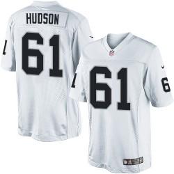 Nike Youth Elite White Road Jersey Oakland Raiders Rodney Hudson 61