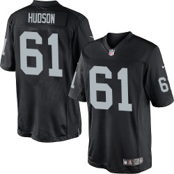 Nike Youth Elite Black Home Jersey Oakland Raiders Rodney Hudson 61