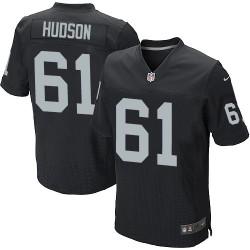 Nike Men's Elite Black Home Jersey Oakland Raiders Rodney Hudson 61