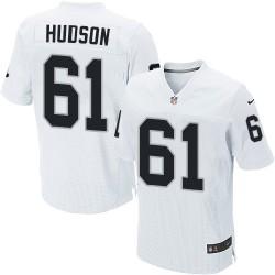 Nike Men's Elite White Road Jersey Oakland Raiders Rodney Hudson 61