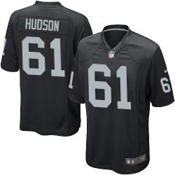 Nike Men's Game Black Home Jersey Oakland Raiders Rodney Hudson 61