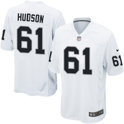 Nike Men's Game White Road Jersey Oakland Raiders Rodney Hudson 61