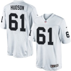 Nike Men's Limited White Road Jersey Oakland Raiders Rodney Hudson 61